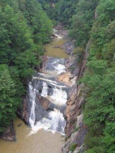 Tallulah Gorge State Park - Bridal Veil Falls - July 3, 2009