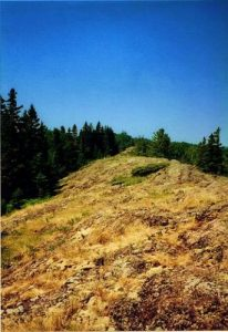 Minong Ridge Trail + route from Rock Harbor, Isle Royale National Park