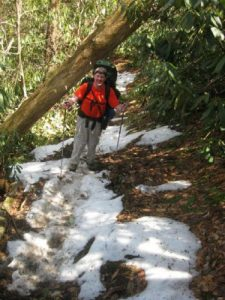 <b>Spring Snow</b><br> The northern faces still had snow when we hiked this trail on March 27th.