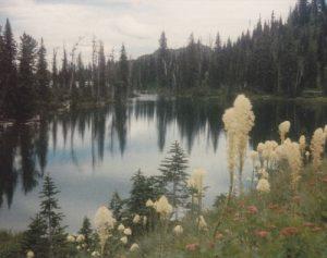 <b>Blackfoot Lake</b><br> Blackfoot Lake is at the lowest elevation on this hike (5500').