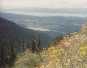 <b>Trail #8, West Face of the Mountain</b><br> On this side of the mountain are expansive views of Flathead Lake and the Falthead Valley.