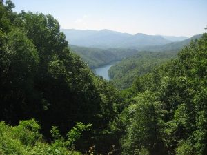 """<b>Fontana Lake</b><br> This is a view of of Fontana Lake from the """"Road To Nowhere"""" which is more commonly known as Lake View Drive/Fontana Rd."""