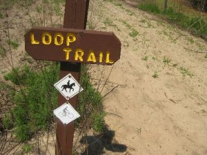<b>Horse/Biking Trail</b><br> There are miles of trails in the area, including horse and biking trails.