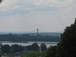 <b>The Sakonnet River Bridge</b><br> This is a view of the Sakonnet River Bridge from the lookout tower at Ft. Barton.