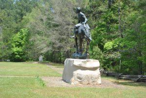 <b>crawford trail</b><br> statue along the crawford trail