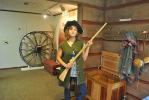 <b>crawford trail</b><br> Kimi dressing up like our forefathers at the Andrew Jackson museum