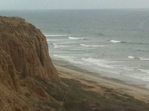 <b>The Bluffs</b><br> Here is a photo of the bluffs that separate old U.S. 101 and the camping area from the beach.