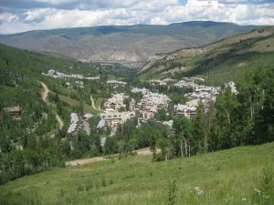 <b>Beaver Creek Village</b><br> Beaver Creek Village from Allie's Way and looking North.