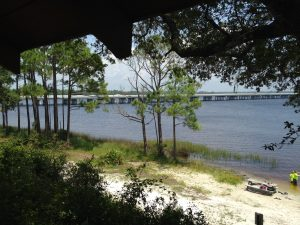 <b>View Of Highway 98 Bridge From The Park</b>