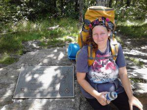 <b>sadonna at springer mountain 7/29/14</b><br> sadonna & kimi hike at approach trail together