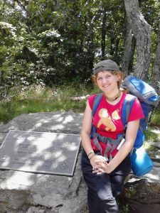 <b>kimi at top of springer mountain</b><br> Sadonna & Kimi hike at approach trail 728/14