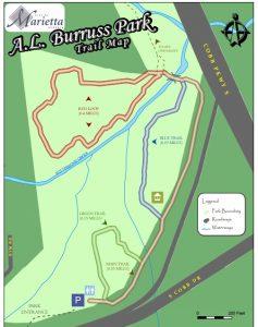 <b>A.L. Burruss Nature Park Trail Map</b>